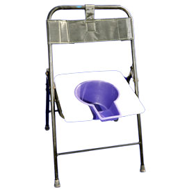 Folding Commode Chair With Back (Square)