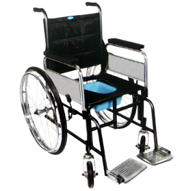 Invalid Wheel Chair (Folding) With Commode